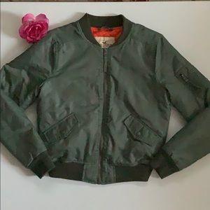 Hollister Army Green Jacket. Junior size Medium